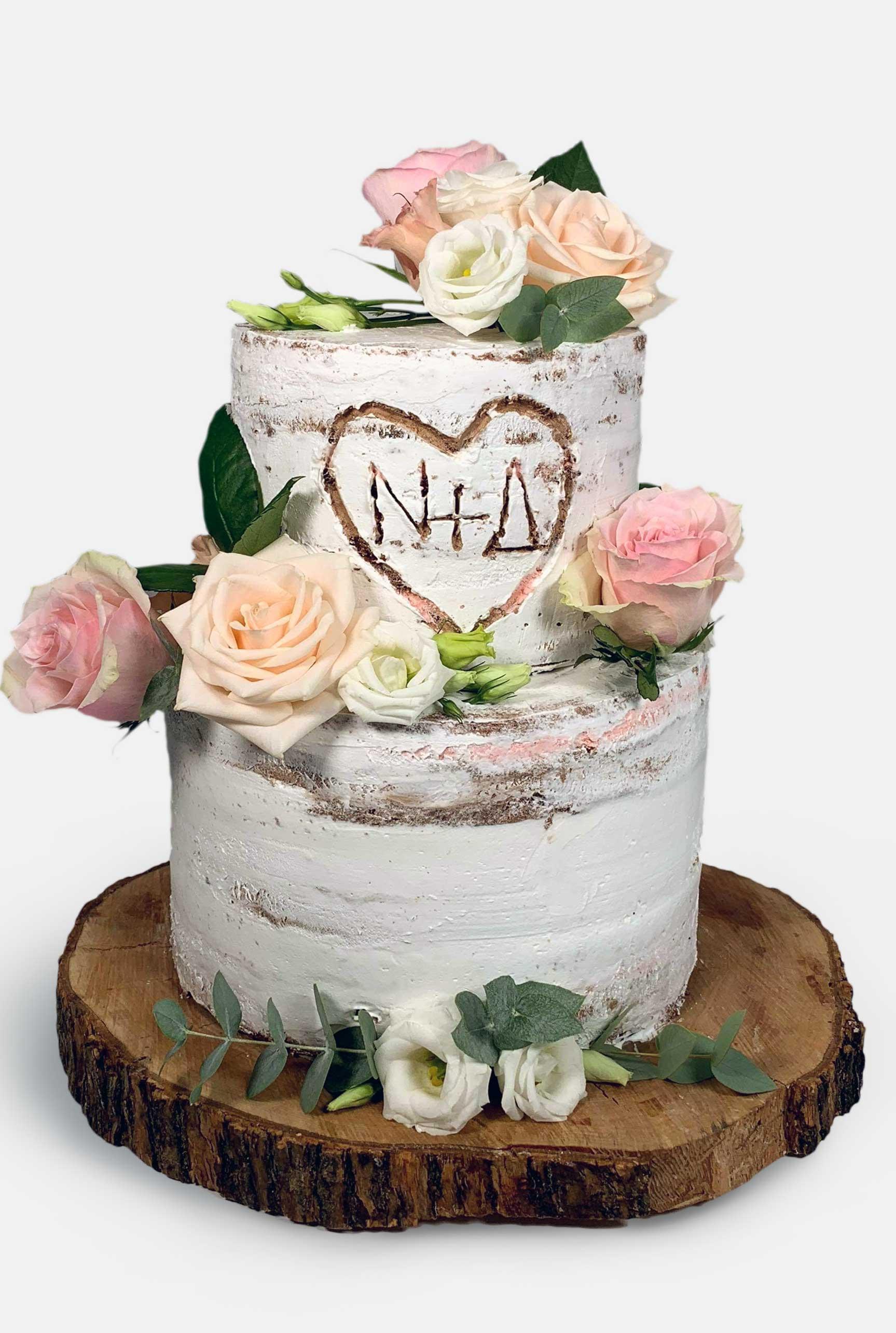 Pink and Gold Macaron Studded Naked Birthday Cake!